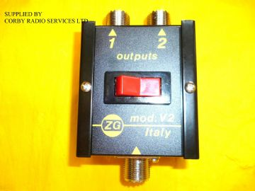 COAX  ZETAGI V2 ANTENNA SWITCH  FOR CB TAXI & HAM RADIO 2 POSITION UP TO 600 MHz pwr 1KW